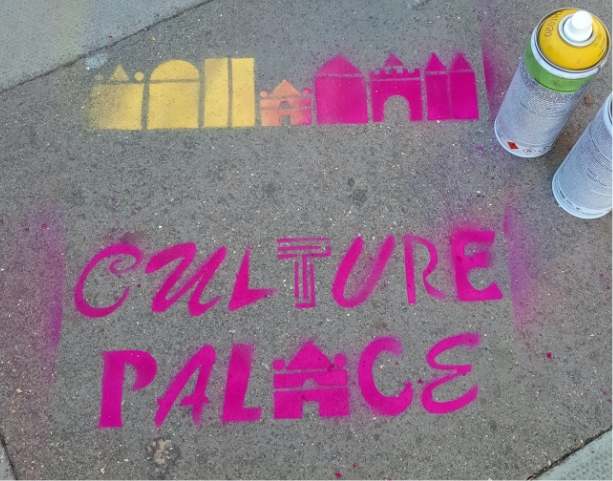 Culture palace signage 2x